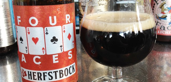 herfstbock four aces glas